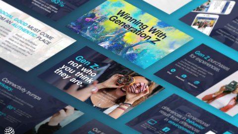 Consumer research slide deck design for PEPSICO about Gen Z.