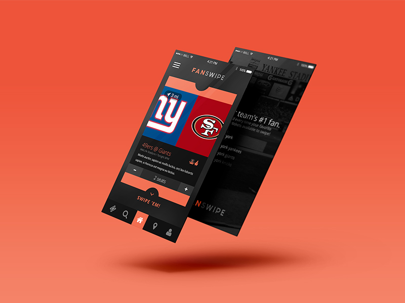 App UI/UX design sample: Events & Sports - created by Viputheshwar Sitaraman