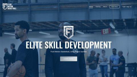 Web design sample: Sports & EdTech - created by Viputheshwar Sitaraman