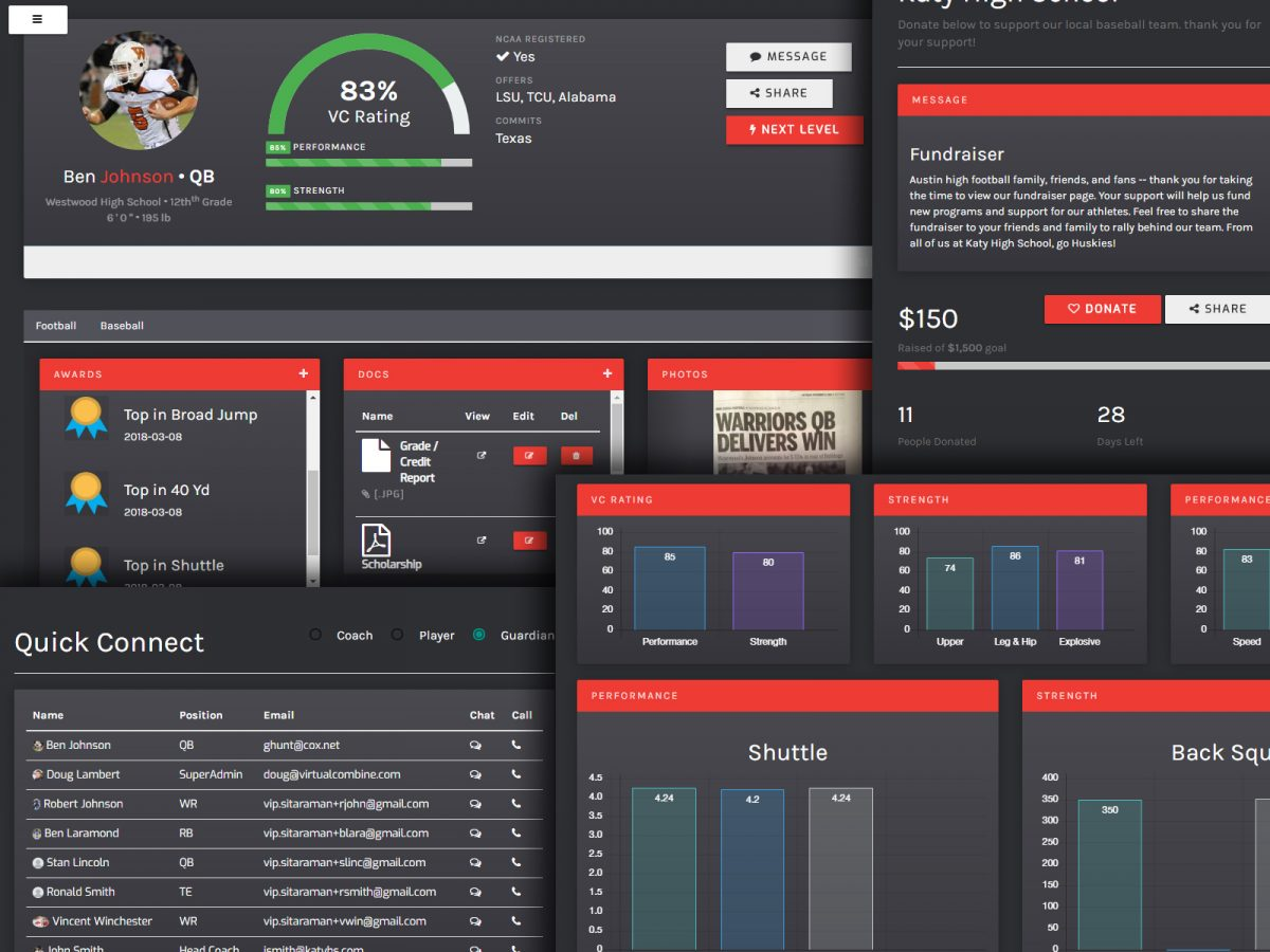 App UI/UX design sample: Edtech & Sports - created by Viputheshwar Sitaraman