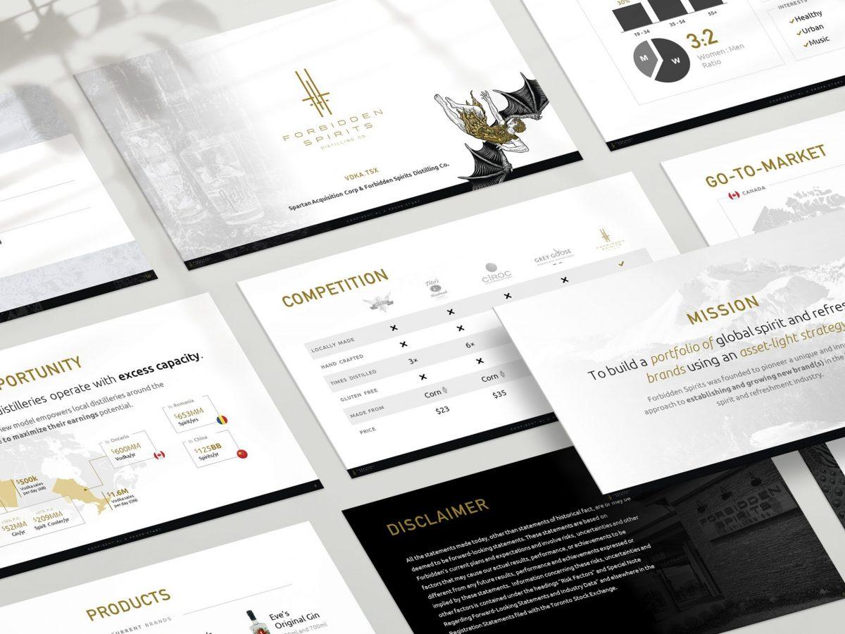 Pitch deck design sample: Liquor & Spirits - created by Viputheshwar Sitaraman